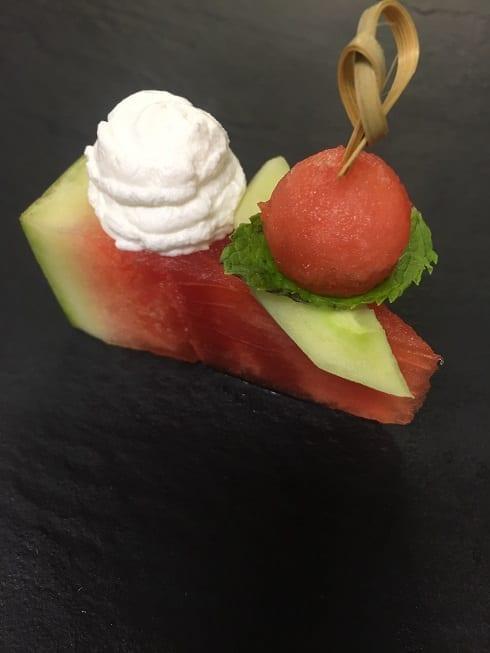 Watermeloen met Chavroux Natuur