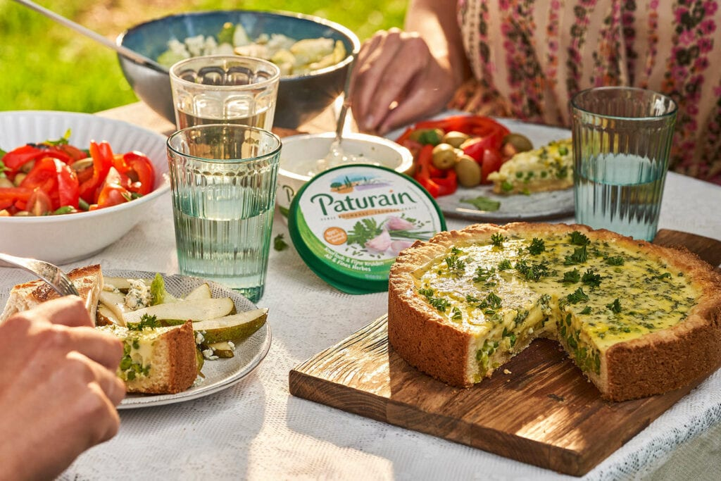 Recept : Quiche met doperwten en Paturain